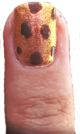 Nail art leopard BonjourBlondie etape 2