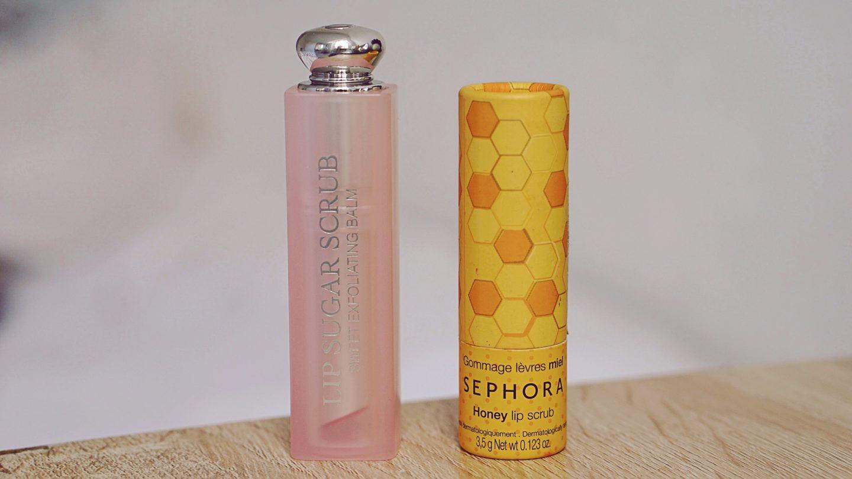 Exfoliants à lèvres : Dior VS Sephora