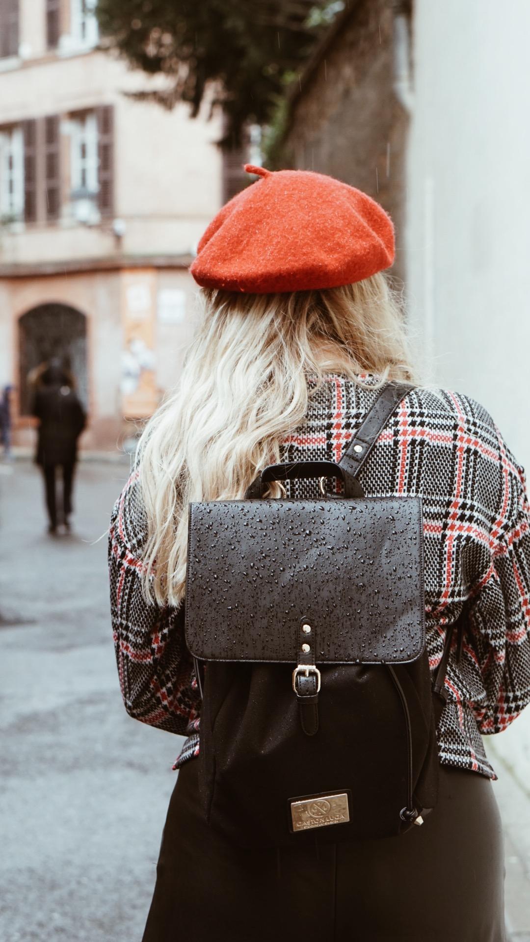 Gaston Luga Backpack Beret BonjourBlondie