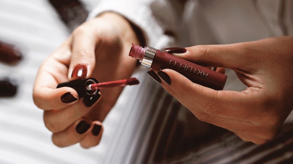 Art Deco Maquillage Automne rouge à lèvres liquide matte